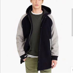 NWOT J. Crew Wool-nylon sideline jacket K2334
